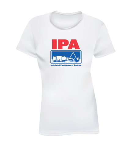 IPA - INEBRIATED POOL PLAYERS OF AMERICA (Women's Tee) - White