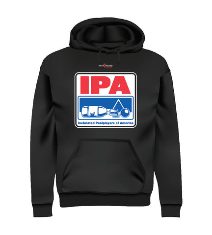 IPA - Inebriated Pool Players of America (Hoodie) - Black