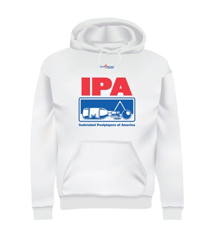 IPA - Inebriated Pool Players of America (Hoodie) - White