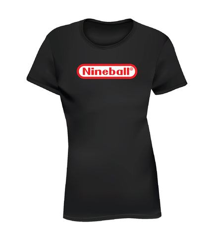 NINEBALL (Women's Tee) - Black