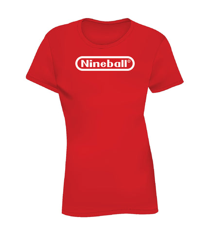 NINEBALL (Women's Tee) - Red