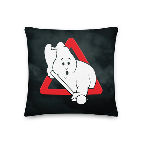 "PLAYING THE GHOST (18""x18"" Pillow)"