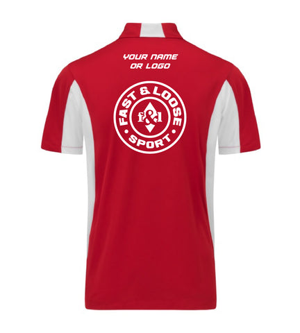 fast&loose SPORT (Side Blocked Polo) - Red / White Version 2