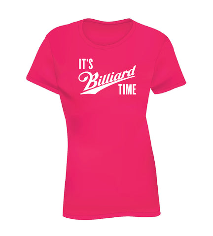 IT'S BILLIARD TIME (Women's Tee) - Pink