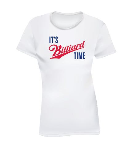 IT'S BILLIARD TIME (Women's Tee) - White