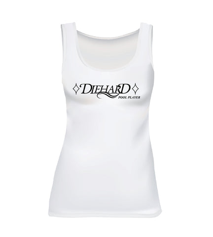 DIEHARD POOL PLAYER (Women's Tank) - White