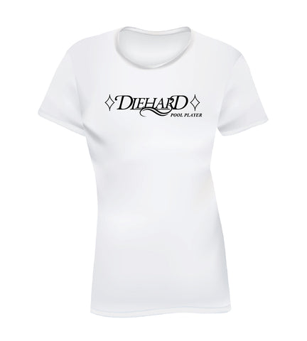 DIEHARD POOL PLAYER (Women's Tee) - White