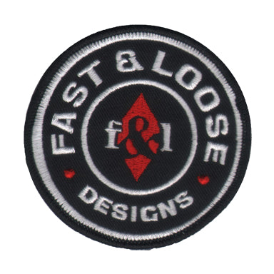 FAST&LOOSE DESIGNS PATCH - IRON-ON BACKING