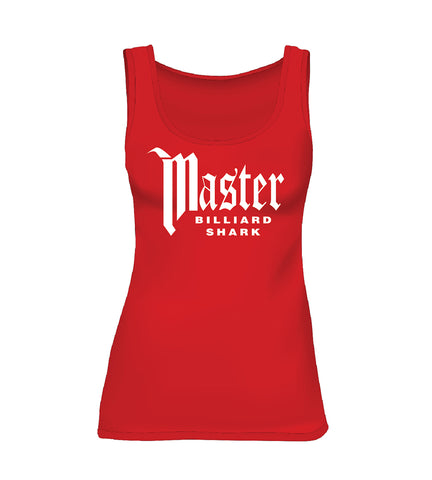 MASTER BILLIARD SHARK (Women's Tank) - Red