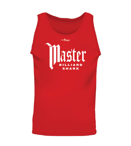 MASTER BILLIARD SHARK (Men's Tank) - Red