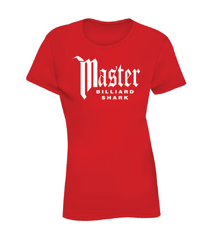 MASTER BILLIARD SHARK (Women's Tee) - Red