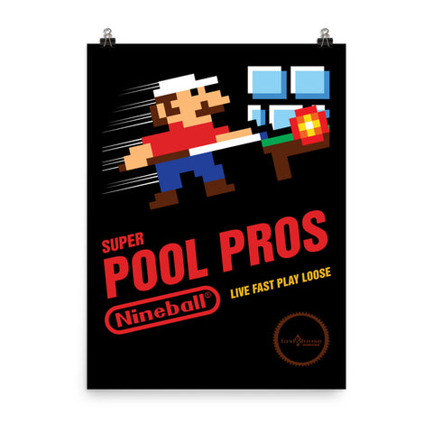 SUPER POOL PROS POSTER