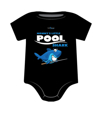 MOMMY'S LITTLE POOL SHARK ONESIE (Black)