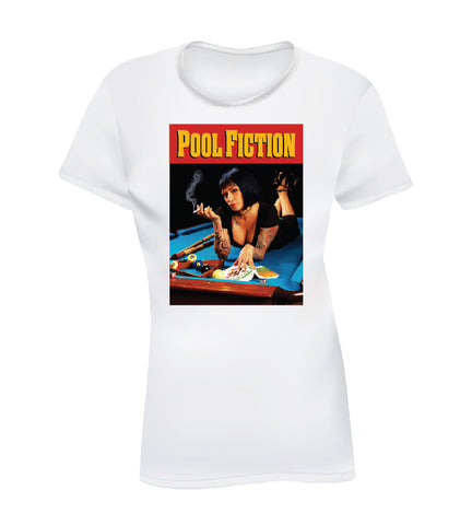 POOL FICTION (Women's Tee) - White