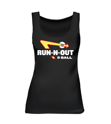 RUN-N-OUT 9 BALL (Women's Tank) - Black