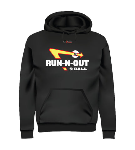 RUN-N-OUT 9 BALL (Hoodie) - Black