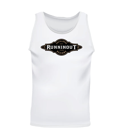 RUNNINOUT (Men's Tank) - White