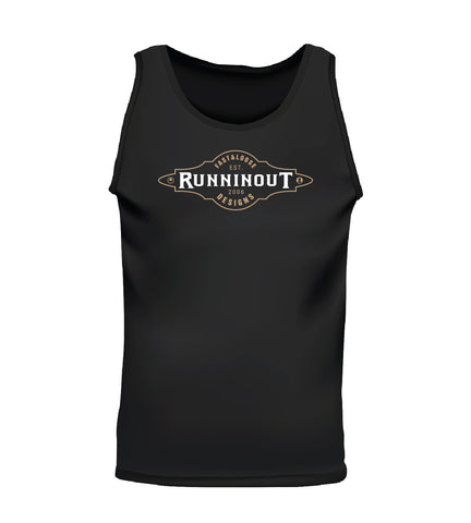 RUNNINOUT (Men's Tank) - Black