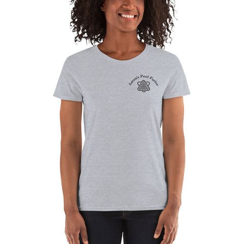 AARON'S POOL PARLOR (Women's Tee) - Gray