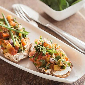 Bruschetta with Pine Nuts and Goat Cheese