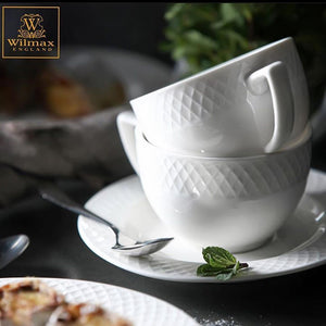 "[A] Fine Porcelain 8 Oz | 240 Ml Tea Cup & 6"" Saucer Set Of 6 In Gift Box WL-880105/6C"