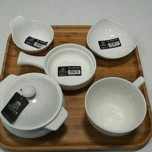 [A] Fine Porcelain Baking Dish With Handle 5"