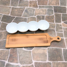 Fine Porcelain Centipede 4 Section Dish With Bamboo Serving Tray To Match WL-555016