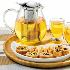 [A] Thermo Glass Tea Pot 29 Fl Oz | 850 Ml WL-888802/A