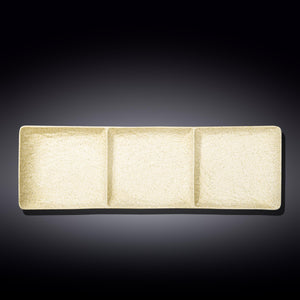 "Rectangular 3 Section Dish 16"" X 5"" 