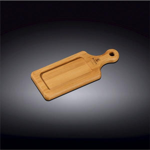 "[A] Natural Bamboo Tray 6.25"" X 2.5"" 