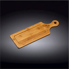 "[A] Natural Bamboo Tray 11"" X 3.75"" 