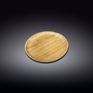 [A] Natural Bamboo Plate 4"