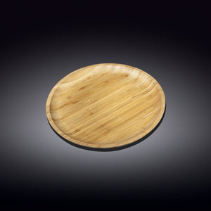 [A] Natural Bamboo Plate 7"