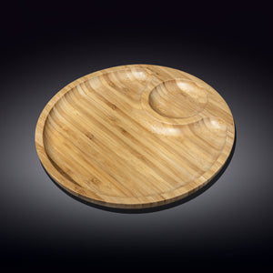 [A] Natural Bamboo 2 Section Platter 8"
