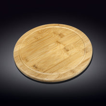 [A] Natural Bamboo Serving Board 12"