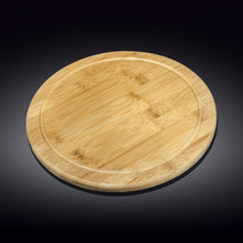 [A] Natural Bamboo Serving Board 14"