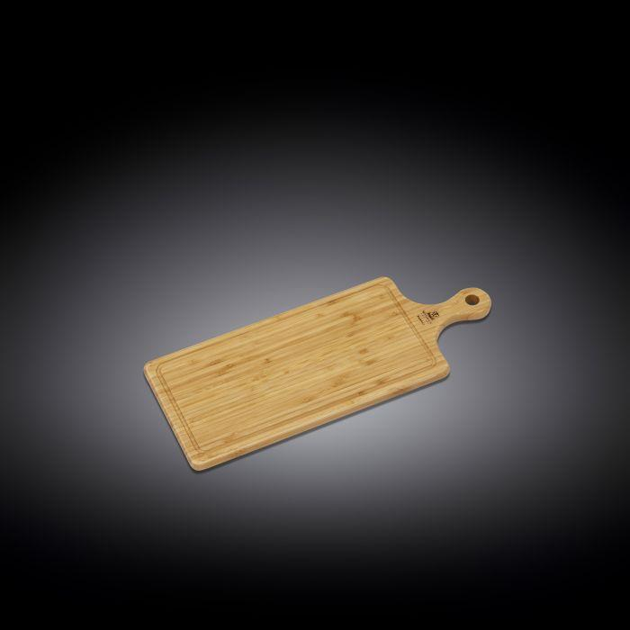 [A] Natural Bamboo Long Serving Board With Handle 19.7