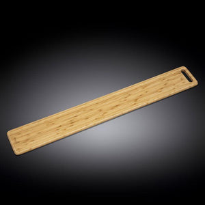 "[A] Natural Bamboo Long Serving Board 39.5"" X 5.9"" 