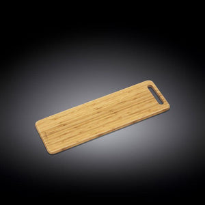 "[A] Natural Bamboo Long Serving Board 23.6"" X 7.9"" 