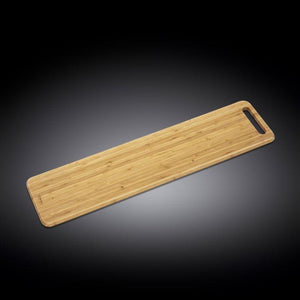 "[A] Natural Bamboo Long Serving Board 31.5"" X 7.9"" 