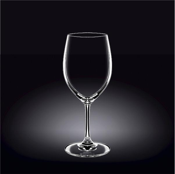 [E ***] Standard Red Wine  Crystalline Glass 16 Oz | 460 Ml Set Of 6 In White Box WL-888007/6A