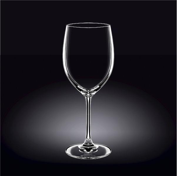 [E ***] Standard Red Wine  Crystalline Glass 18 Oz | 530 Ml Set Of 6 In White Box WL-888008/6A