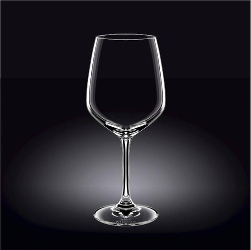 [E ***] Cabernet Sauvignon Wine Crystalline  Glass 21 Oz | 630 Ml Set Of 6 In Plain Box WL-888020/6A