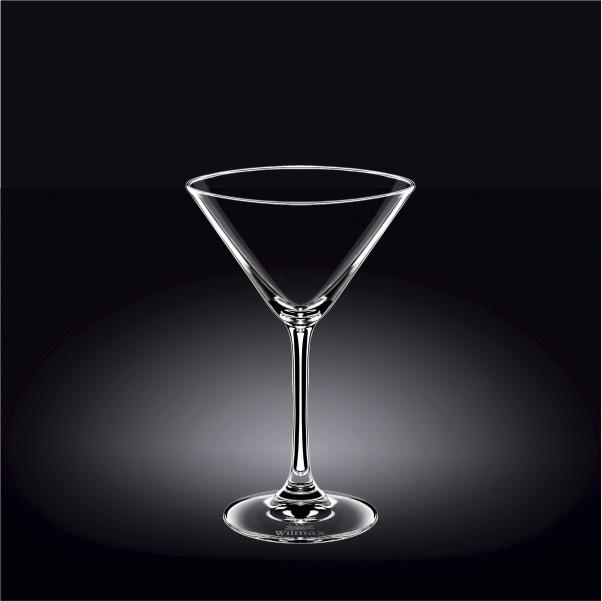 [E ***] Martini  Crystalline Glass 9 Oz | 270 Ml Set Of 6 In White Box WL-888030/6A