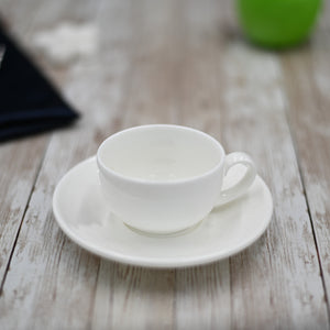 [A] Fine Porcelain 3 Oz | 100 Ml Coffee Cup & Saucer WL-993002AB
