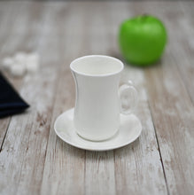 [C *] Fine Porcelain 4 Oz | 120 Ml Tea Cup & Saucer WL-993087AB