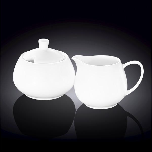 Sugar Bowl & Creamer Set In Colour Box WL-995048/2C