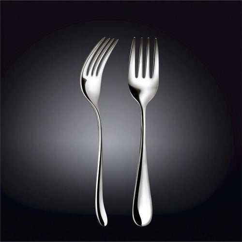 [D **] High Polish Stainless Steel Serving Fork 9