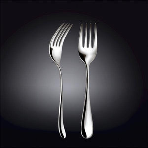 [D **] High Polish Stainless Steel Serving Fork 9"