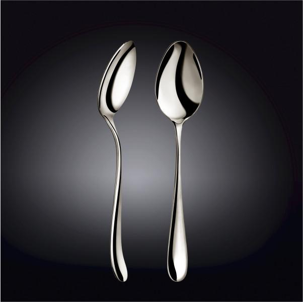 [D **] High Polish Stainless Steel Serving Spoon 9.25
